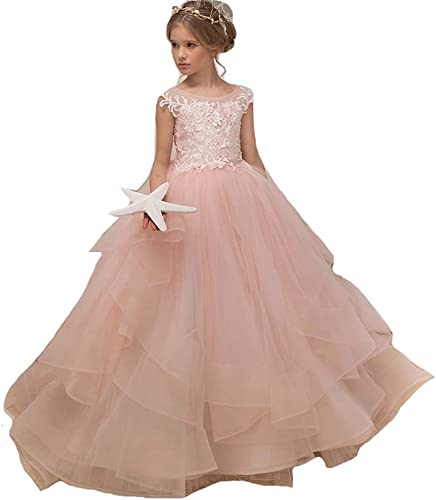 MerryGirl Robes de Demoiselle Rose pour Les Mariages Robes de Bal Filles Robes de Reconstitution Historique