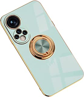 Hicaseer Case for Huawei Honor 50,Ultra-Thin Ring Shockproof Flexible TPU Phone Case with Magnetic Car Mount Resist Durabl...