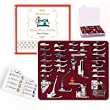 Windman 32Pcs Sewing Machine Presser Feet Set Include Instructions and Deluxe Package for Brother Singer Janome Babylock Low Shank Sewing Machine Use