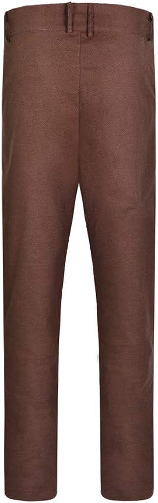 Men's Dress Pants Long Casual Business Pants Slim Fit Expandable Trousers Suit Pants Plain-Front Zipper Pants