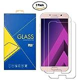 [2 Pack] Protector Cristal Vidrio Templado Samsung Galaxy A7 (2017) SM-A720 / A720F / A720F/DS / 720 – Pantalla Antigolpes y Resistente al Rayado