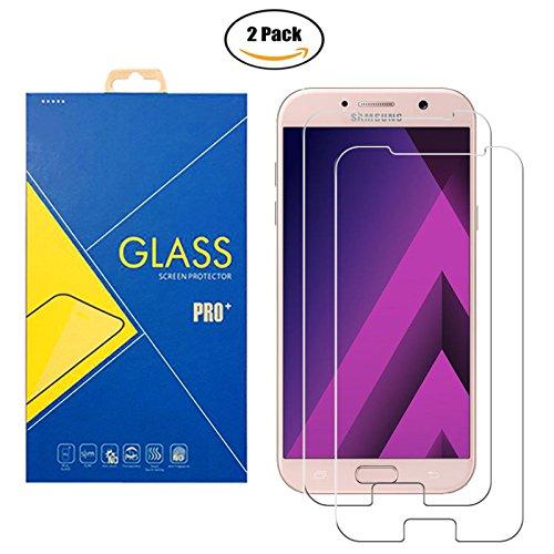 [2 Pack] Pellicola Vetro Temperato Samsung Galaxy A7 2017 SM-A720 / A720F / A720F/DS / 720 - Schermo Antiurto Antigraffio