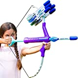 Marky Sparky Bow & Arrow - Shoots Over 100 Feet - Foam Bow & Arrow Archery Set - Purple, Turquoise & Gray (Fluorite)