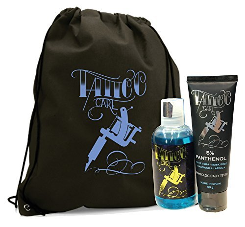 EASY KITS TATTOO KIT L (POMADA CICATRIZANTE PANTHENOL 40g + JABÓN TATTOO SOAP 100ml) CREMA PARA TATUAJE PREMIUM