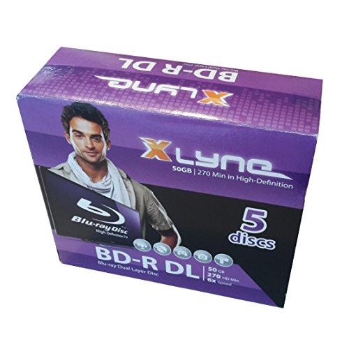 XLYNE BD-R DL Bluray Rohlinge │ 50 GB │ 6x Speed │ 5er Jewel Case │ Dual Layer