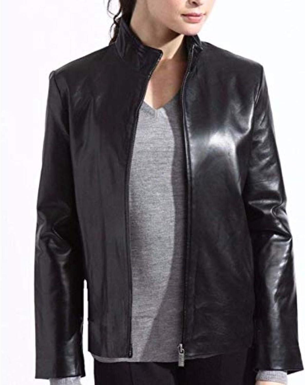 New Fashion Style Women's Leather Jackets Black I81_