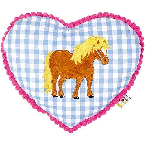 Die Spiegelburg 13394 Kuschelkissen Mein Kleiner Ponyhof, blau