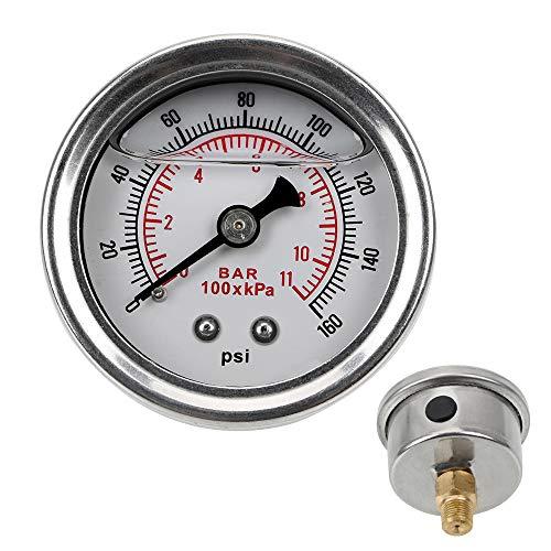 Universal Flüssigkeit 0-160 psi 1/8 NPT für Auto Flüssigkraftstoff Manometer Meter Ölpresse Manometer Tester Monitoring System