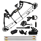 "2021 Compound Bow and Arrow for Adults and Teens – Bowfishing and Hunting Bow with Gordon Limbs Made in USA - Fully Adjustable for Women and Youth 30-70 LBS, 23.5-30.5"" - 320 FPS Speed – R / L"