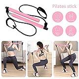 Pahajim Portable Pilates Bar Kit with Resistance Band Yoga Pilates Bar Kit Body Shaping Pilates...