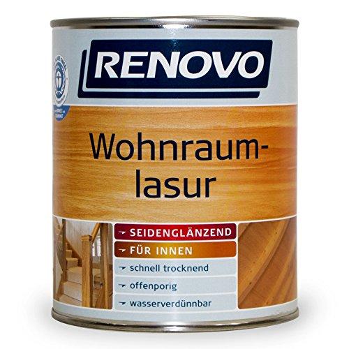 2,5L Renovo Wohnraumlasur Holzlasur 9510 Kalkweiss Seidenglänzend