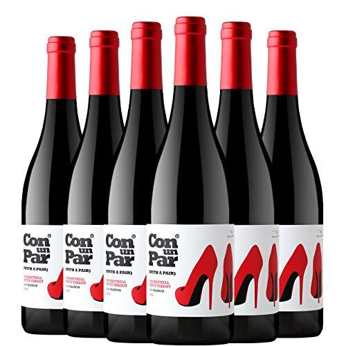 Con un Par Monastrell Petit Verdot Vino Tinto D.O. Valencia 6 Botellas - 750 ml
