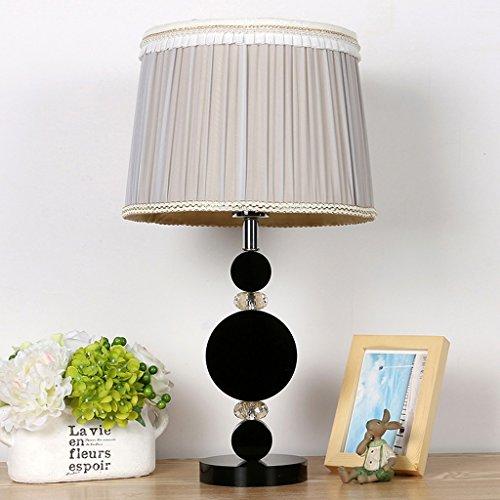 SKC Lighting-lampe de table Lampe de table Hôtel Lampe de table à table de chevet Chambre à coucher Lampe à cristaux liquides / E27 (gris clair)