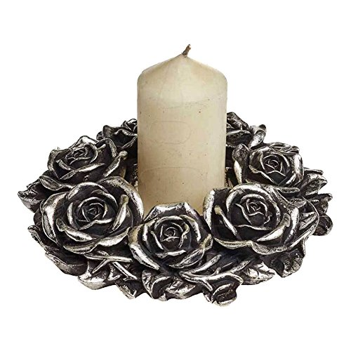 Alchemy Gothic Corona de Rosas Negras (Plateado)