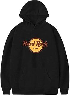 c81484f2 Hard R_Rock Men's Pullover Hood Sweatshirt Tops Hoodie Hat Drawstring Pocket