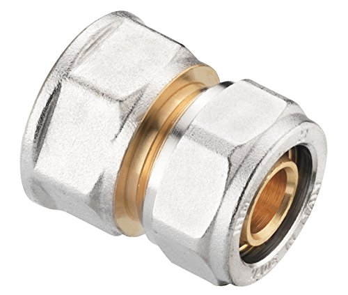 Verbundrohrsystem Schraub-Kupplung Übergang 16 mm x 1/2 Zoll IG, messing