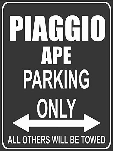 INDIGOS UG Park-piaggio-ape Parkplatzschild, Schwarz
