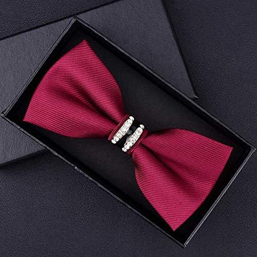 FAHFO Krawatten Smoking-Metallkrawatte-Mann-Schmetterlings-Knoten-Krawatte, T132