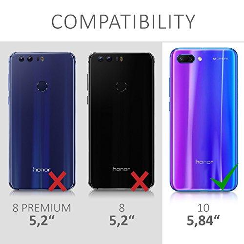kwmobile Huawei Honor 10 Hülle - Handyhülle für Huawei Honor 10 - Handy Case in Travel Umriss Design Schwarz Transparent - 6