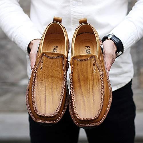 LOVDRAM Chaussures pour Hommes Nouvelles Chaussures De Mode en Cuir Chaussures à La Main pour Hommes Business Casual Ensembles De Pieds Chaussures pour Hommes