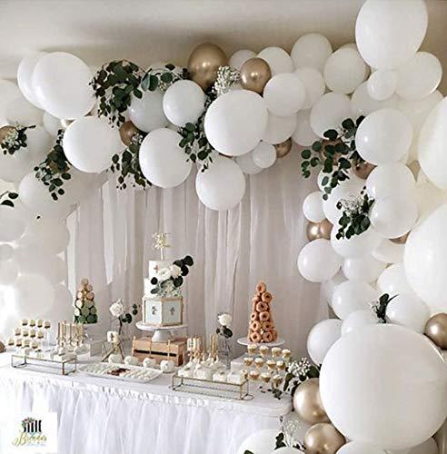 Globos de colores Macaron, globos de látex de colores, 100 decoraciones de globos de látex blanco, utilizados para decoración de cumpleaños, bodas, festivales, fiestas y eventos