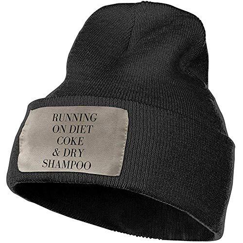 Quintion Robeson Laufen auf Diät-Cola und trockenem Shampoo Beanie-Hut-Unisexstilvolle Kappe geknitterte Slouchy Hüte