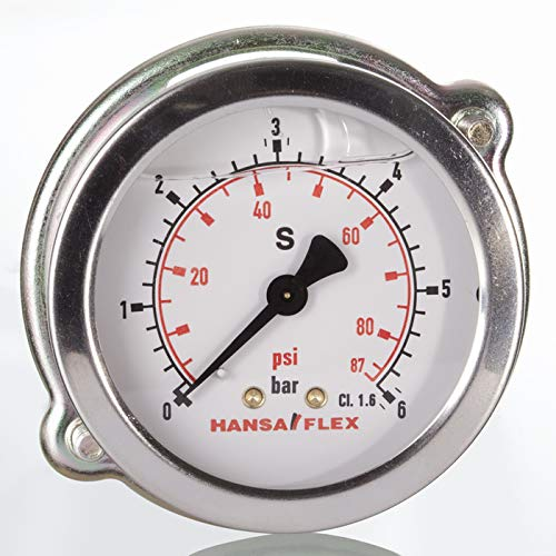 Manometer G1//8 unten NG40 Hochdruck 0-60bar