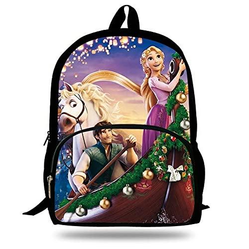 Ksydhwd Mochila escolar Mochilas Escolares Para Niños, Mochila Con Estampado De Princesa Rapunzel Enredada Bonita, Mochila Fresca Para Niñas, Mochila De Dibujos Animados, Mochila