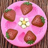 ZPZZPY 3D Strawberry Silicone Mold, Baby Birthday Cake, Fondant Decoration Tool, Chocolate Mold