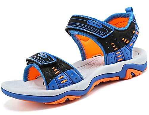 Sandales de Garçon Été Sandales de Marche Plates Mixte Enfant d'été Sandales, 4 Bleu, 32 EU
