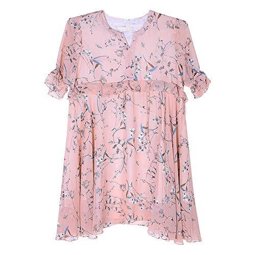 Vestido de maternidad, vestido de media manga ajustable que se puede usar con la piel para mujeres para salir para mujeres embarazadas para el hogar(XXL)