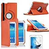annaPrime Etui Coque Housse pour Samsung Galaxy Tab 3 7.0 SM-T210 P3200 P3210, Etui Cuir PU Support...