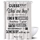 Homewelle Funny Quotes Duschvorhang The Office Micheal Scott Humorvoll Schrute Cool Boutique Inspirational Motivational Guess What 183 x 183 cm 12 Pack Duschhaken Polyester Stoff Badezimmer Badewanne