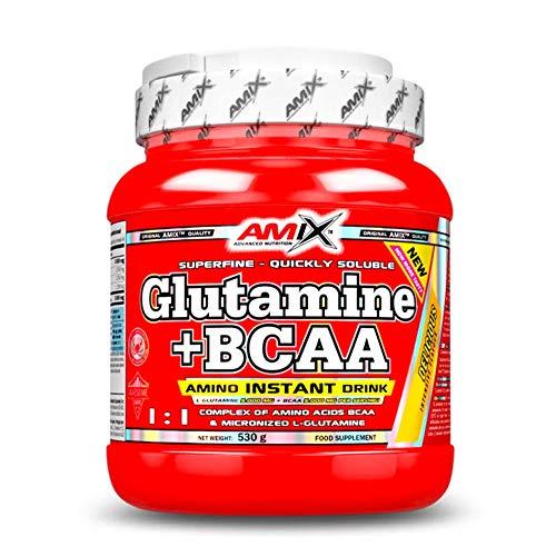 AMIX Glutamine + BCAA Powder - 530 gr Lemon-Lime