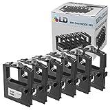LD Compatible Printer Ribbon Cartridge Replacements for Okidata 52102001 (Black, 6-Pack)