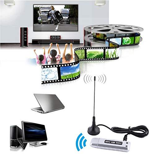 ROMACK Sintonizador de TV HD Multifuncional Receptor de TV USB 2.0 DVB-T Soporte Pantalla de múltiples imágenes con Control Remoto