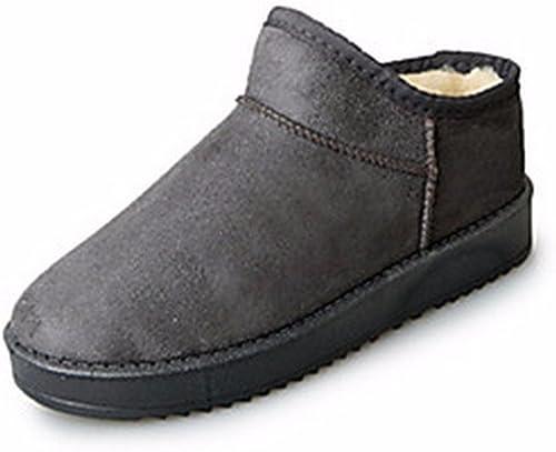 ZHUDJ Chaussures pour Femmes Bottes Neige Hiver Coton Bottes Bottines bottes for Décontracté Rouge Rose Violet Marron gris Noir,gris,Us8   Eu39   Uk6   Cn39