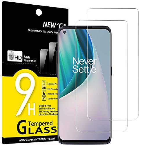NEW'C 2 Stück, Schutzfolie Panzerglas für OnePlus Nord N10 5G, Frei von Kratzern, 9H Festigkeit, HD Bildschirmschutzfolie, 0.33mm Ultra-klar, Ultrawiderstandsfähig
