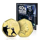 IMPACTO COLECCIONABLES Star Wars - Darth Vader y Luke Skywalker Duelo en la Ciudad de Las Nubes Gold-Silver Plated