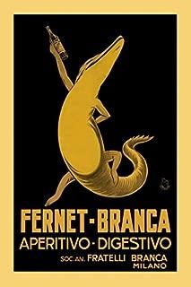Fernet Branca POSTER Alligator Aperitive Digestivo Liquor Drink Milano Milan Italy Italia Vintage Poster Repro 16