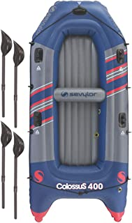 Sevylor 2000014140 Colossus 4 Person Inflatable Boat, Blue