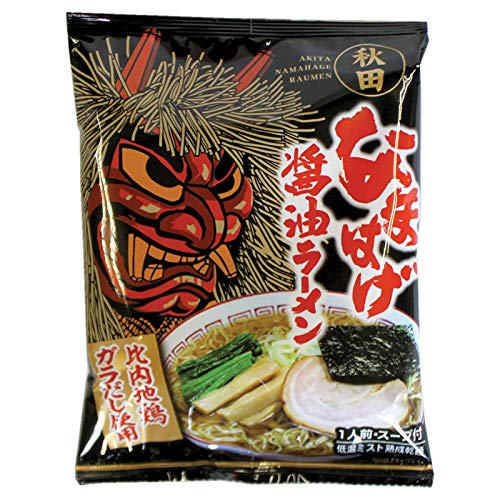 八郎めん 乾燥・秋田なまはげラーメン 醤油味 1食袋