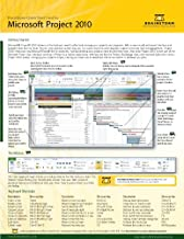 Microsoft Project 2010 Quick Start Reference Card, 6-page Tri-fold Tips & Tricks Shortcut Training &