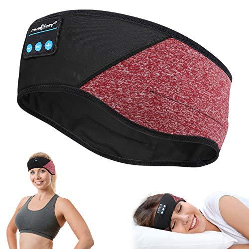 Auriculares para dormir con Bluetooth, auriculares 5.0, auriculares Bluetooth personalizados, con altavoces estéreo HD ultrafinos, muy suaves para deportes, para dormir de lado