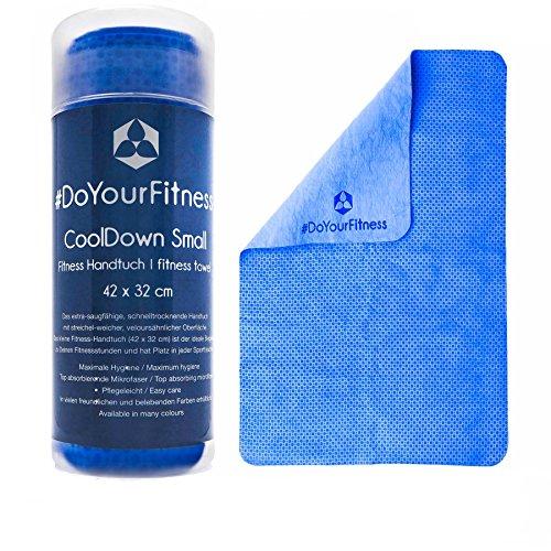 La Toalla Deportiva »CoolDown« Manta para Yoga Fitness Extremadamente Absorbente / 42 cm x 32 cm, Disponible en Muchos Colores/Azul