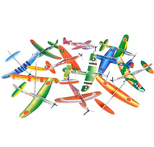 Rhode Island Novelty Foam 8 Inch Flying Glider Planes 48 Piece Assortment