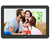 Digital Photo Frame MELCAM 8 Inch 1920x1080 High Resolution 16:9 Full IPS Display Digital Picture Frame Auto-Rotate Image Preview Electronic Picture Frame Video Calendar Clock Support SD Card,USB