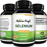 Pure Selenium Thyroid Support Supplement - Selenium 200mcg Antioxidant Supplement and Natural Immune Booster for Adults - Adult Immune Support Vitamins and Mind and Memory Supplement for Brain Support