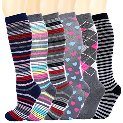 Matchwill Kompressionsstrümpfe für Damen, Herren Socken, Kniestrümpfe, Kompressionssocken Männer, Frauen für Medizinische/Sport/Joggen/Krankenschwestern/Flüge/Reisen/Schwangerschaft