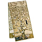 VON LILIENFELD® Scialle Seta Sciarpa Donna Accesorio Satin Arte Gustav Klimt: Albero della vita